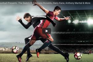 ロナウドとスイッチ!? ナイキの「The Switch」が2016年に世界で最も話題になった広告にランクイン!