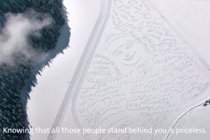 ファンの想い届け-スイスコムのスキー選手に向けた-雪の応援メッセージ
