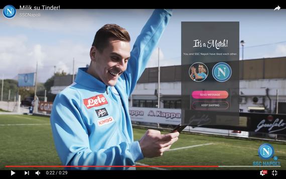 ナポリfwミリクとtinderで交流-デートアプリとサッカークラブのユニークな応援企画