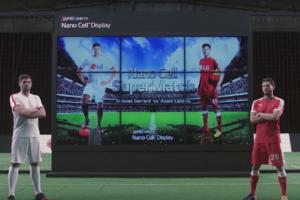 ジェラードとララーナがキック対決-大きなバズを生んだlgの新型テレビ-nano-cell-宣伝キャンペーン