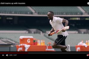 ウサイン・ボルトがクリケット選手のスピードを測る指標に?ゲータレードのアンバサダー活用法